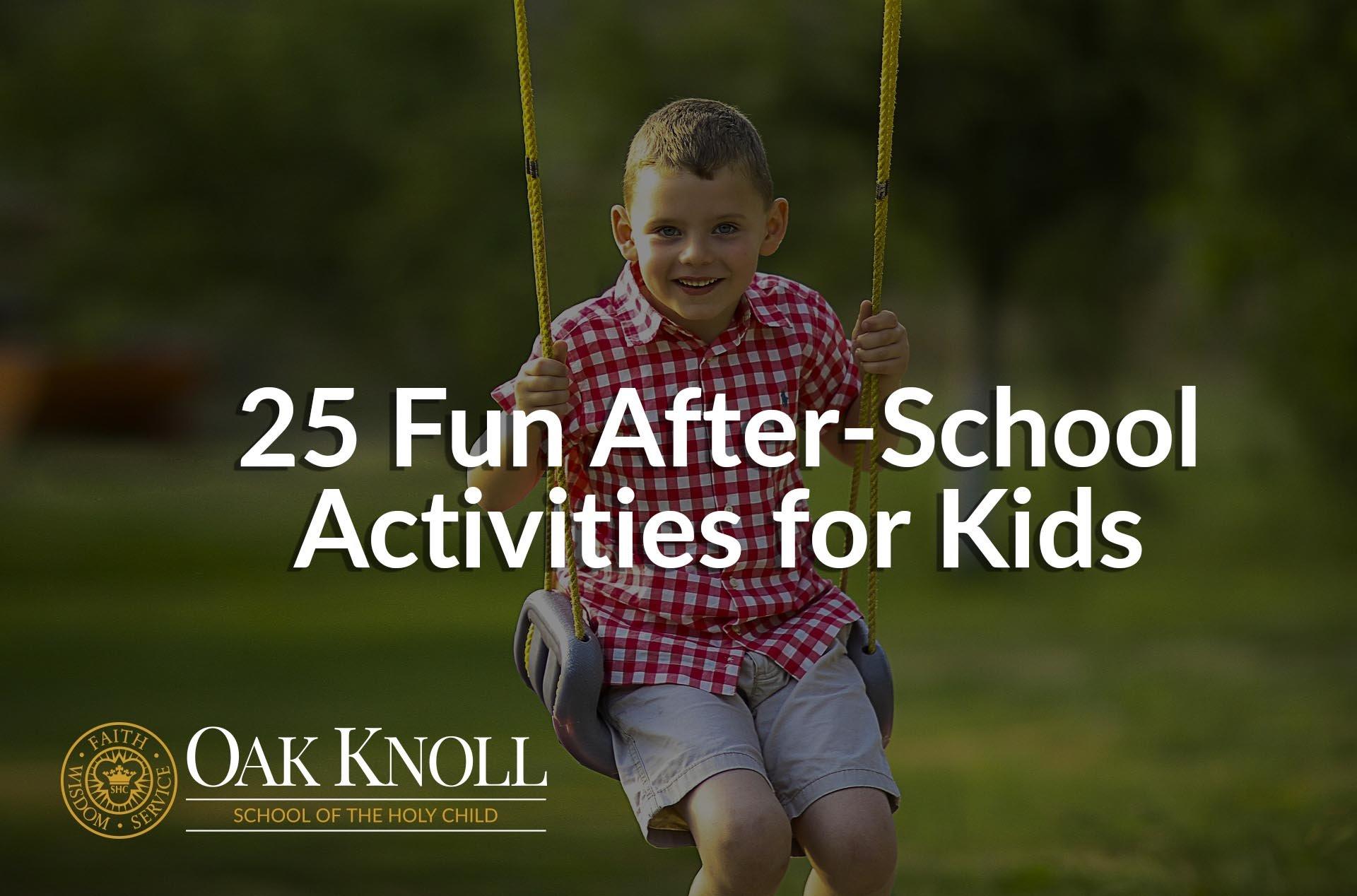 25 Fun After-School Activities for Kids