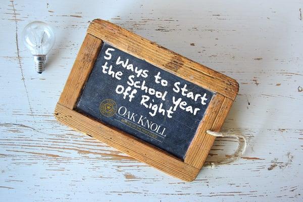 Title of blog written on chalk board