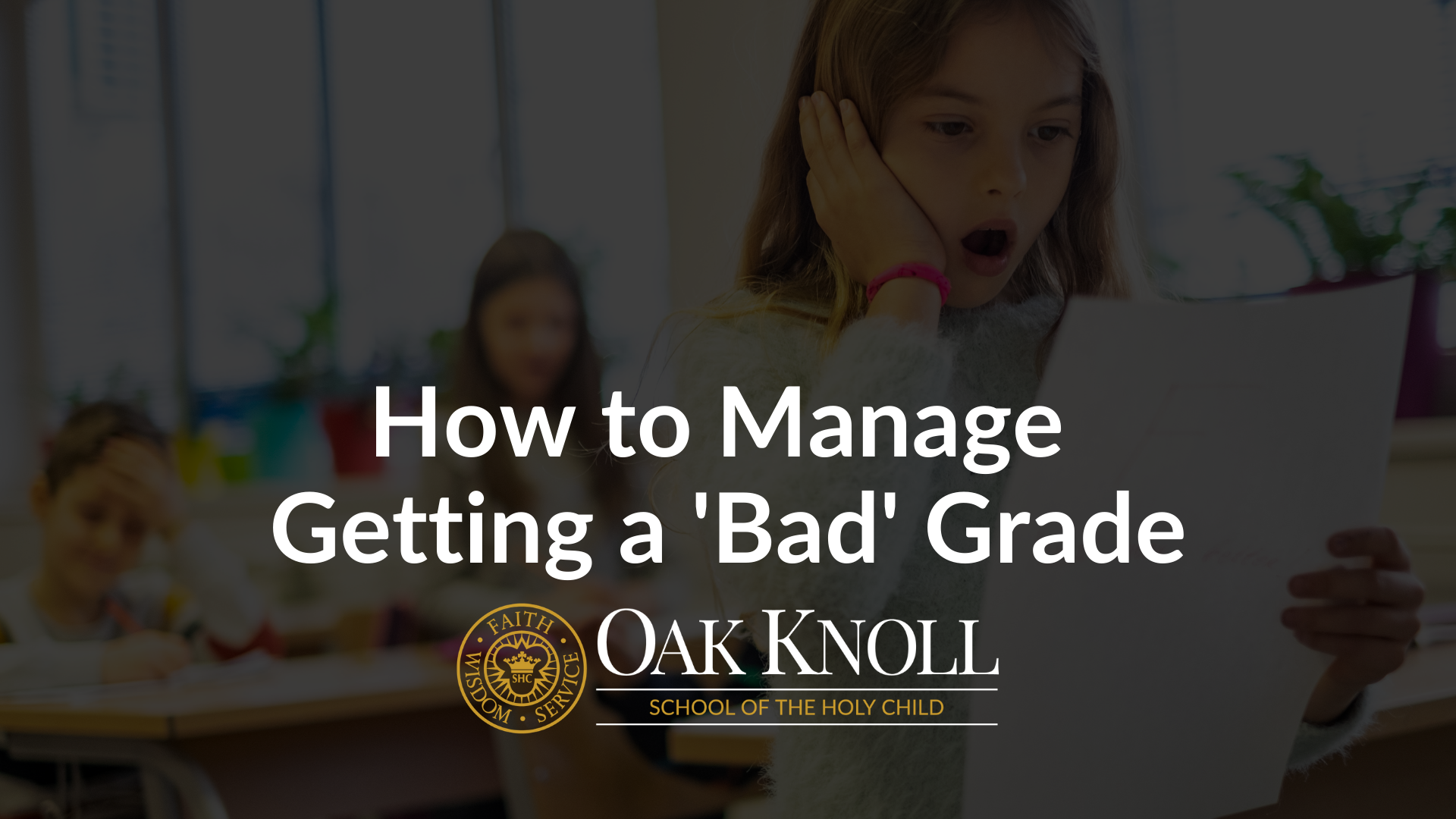 How To Manage Getting A Bad Grade