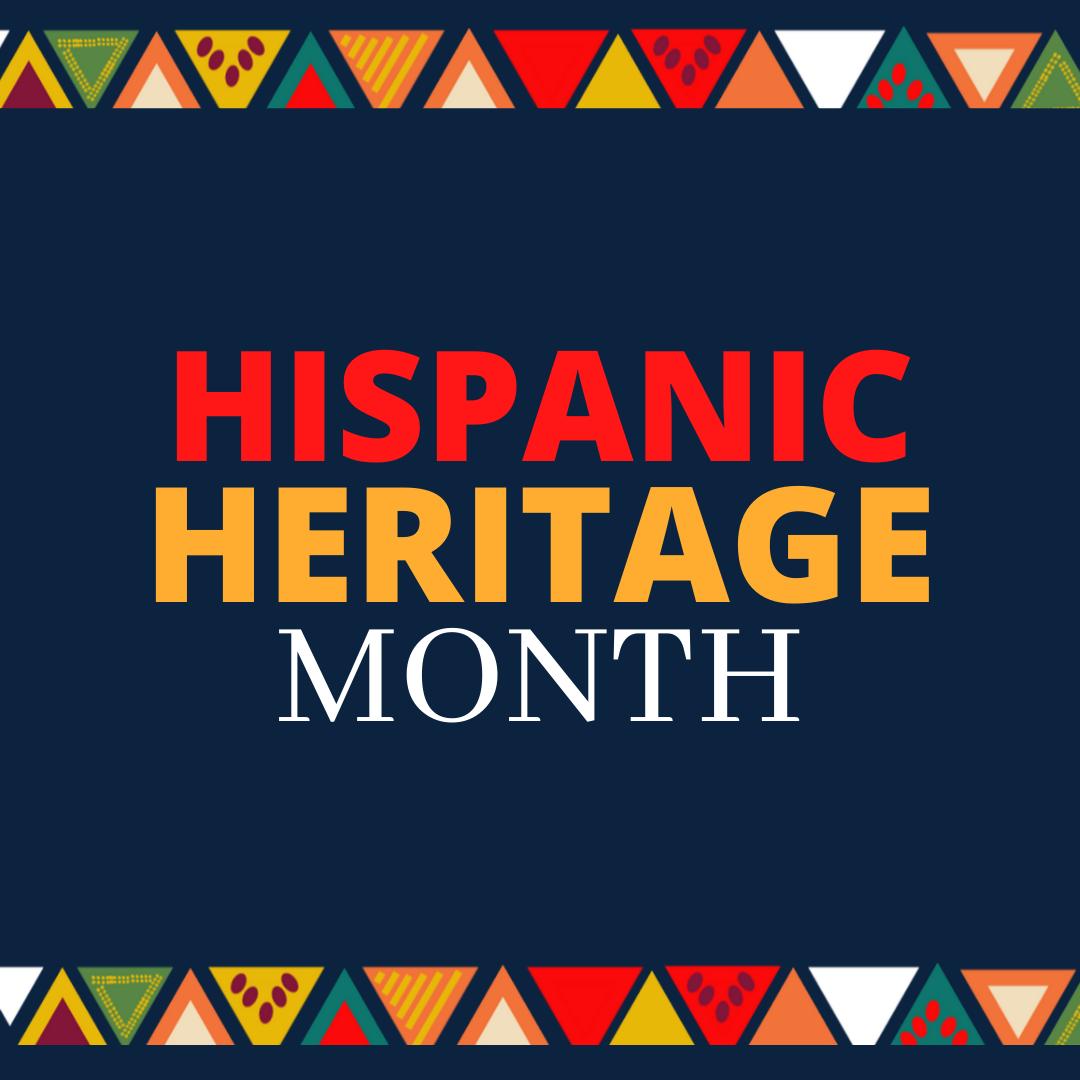 Blue Red Orange Hispanic Heritage Month Instagram Post